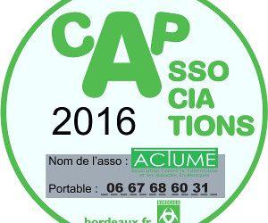 ACTUME au Cap des associations 2016 à Bordeaux