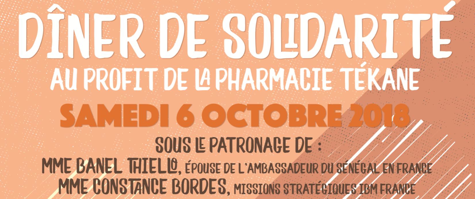 Soirée Solidaire le 6 octobre 2018